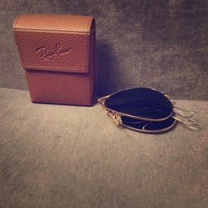 Ray Ban Aviator folding sunglasses